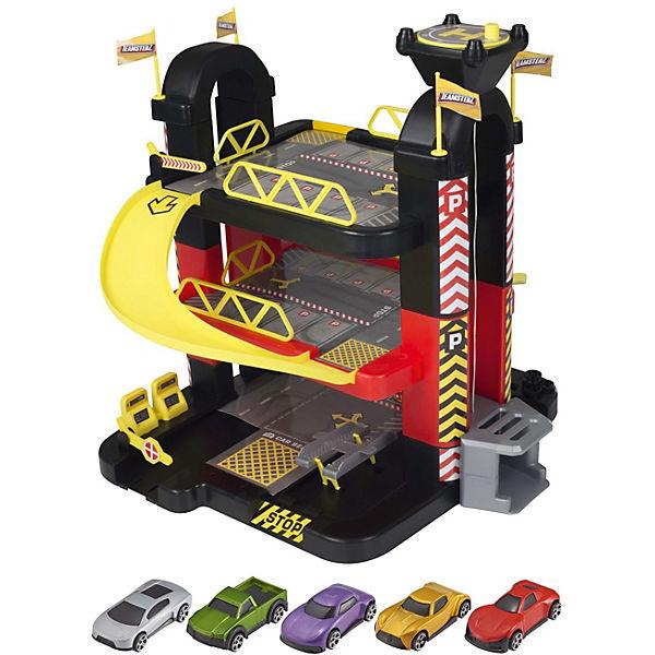 Трёхуровневый гараж HTI Teamsterz, 5 машинок