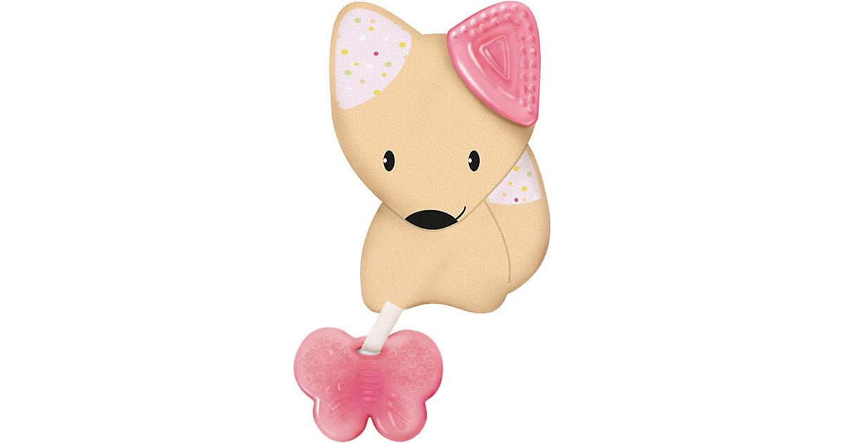 Chicco · Beißring Softtierchen Fresh Friends, mit abnehmbarem Beißring Girl, Fuchs, rosa