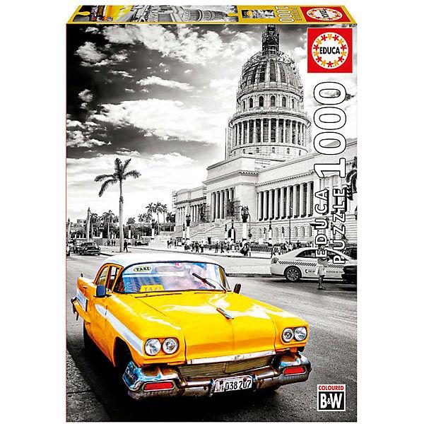 """Пазл Educa 1000 деталей  """"Такси в Ла-Гавана, Куба"""""""