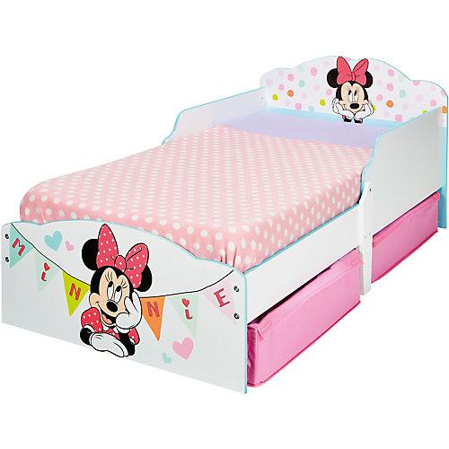 WORLDS APART Kinderbett de Luxe, mit 2 Schubkästen, Minnie Mouse, rosa/weiß, 70 x 140 cm