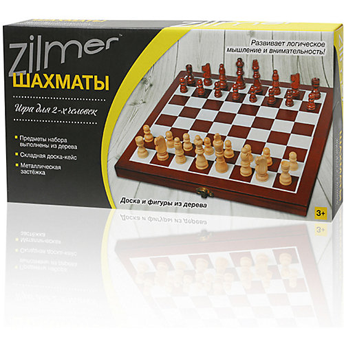 "Настольная игра ""Шахматы"" Zilmer ,30,5х15,3х4,2 см, дерево от Zilmer"