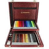 Набор цветных пастелей Stabilo Carbothello, 60 цв, деревянный футляр