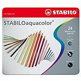 Набор акварельных карандашей Stabilo aquacolor 24цв, металл