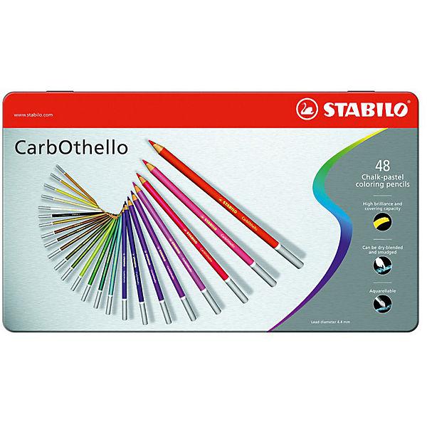 Набор цветных пастелей Stabilo Carbothello, 48 цв, металл