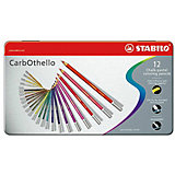 Набор цветных пастелей Stabilo Carbothello, 12 цв, металл