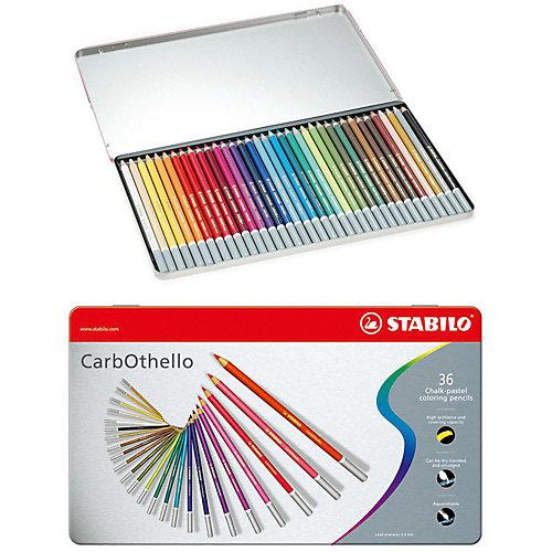 Набор цветных пастелей Stabilo Carbothello, 36 цв, металл от STABILO