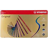 Набор цветных карандашей Stabilo original 38 цв, металл