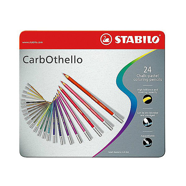 Набор цветных пастелей Stabilo Carbothello, 24 цв, металл