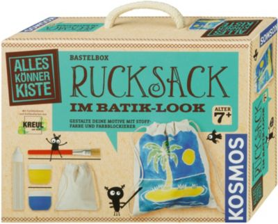 Tolles Geschenk: Bastelbox Rucksack im Batik-Look selber machen