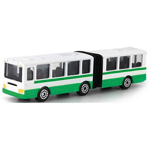 Автобус с резинкой  12 см, металл. от ТЕХНОПАРК