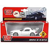 """Машина """"BMW Z-4 GT3"""" металл. инерц., 1:38, открыв. двери."""