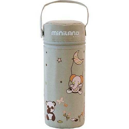 Термосумка для бутылочек Thermibag Soft 330 мл., бежевая - серый от Miniland