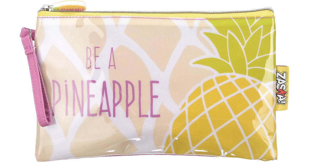 ZASKA! Kosmetiktasche Pineapple Ananas gelb