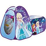 """Палатка с туннелем John """"Холодное сердце"""", голубая"""