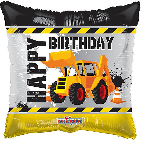 Folienballon Happy Birthday Bagger, Karaloon