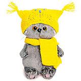 Мягкая игрушка Budi Basa Кот Басик Baby в шапке-сова и шарфе, 20 см
