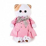 Мягкая игрушка Budi Basa Кошечка Ли-Ли в розовом плаще с серым бантиком, 24 см