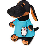 Мягкая игрушка Budi Basa Собака Ваксон в футболке с совой, 25 см