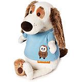 Мягкая игрушка Budi Basa Собака Бартоломей в футболке с совой, 27 см