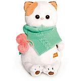 Мягкая игрушка Budi Basa Кошечка Ли-Ли в бирюзовом снуде, 24 см