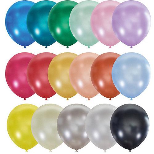 """Воздушные шары """"Металлик и перламутр"""" 9""""/23 см, 100 шт от Latex Occidental"""