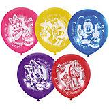 """Воздушные шары Latex Occidental """"Дисней. С днём рождения"""" 50 шт., пастель + декоратор"""