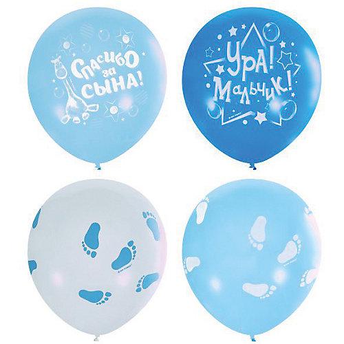 """Воздушные шары """"К рождению мальчика"""" 12""""/30 см, серии Пастель и Декоратор, 25 шт от Latex Occidental"""