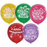 """Воздушные шары Latex Occidental """"С днём рождения. Детский"""" 25 шт., пастель + декоратор"""