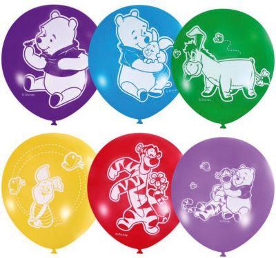 """Воздушные шары Latex Occidental """"Дисней. Винни-Пух"""" 50 шт., пастель + декоратор (шёлк)"""
