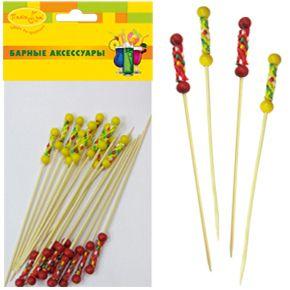 Шпажки для канапе Патибум 20 шт., бамбуковые