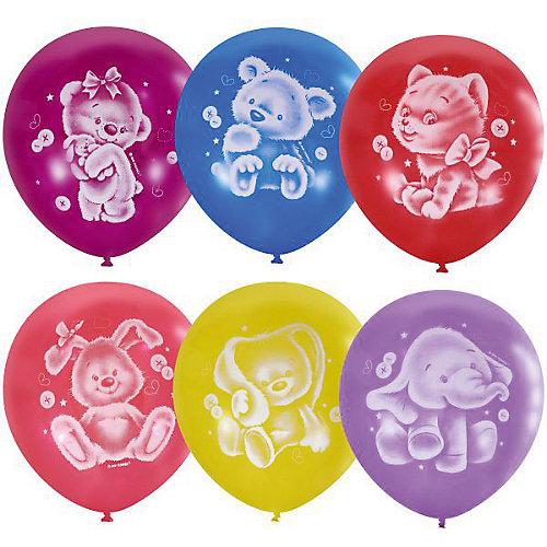"""Воздушные шары Latex Occidental """"Плюшевые друзья"""" 50 шт., пастель + декоратор от Latex Occidental"""