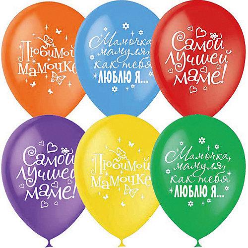 """Воздушные шары Latex Occidental """"Любимой маме"""" 25 шт., пастель + декоратор (шёлк) от Latex Occidental"""