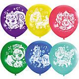 """Воздушные шары Latex Occidental """"Дисней. Пушистые истории. С днём рождения"""" 25 шт., пастель + декоратор"""