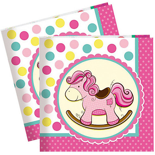 "Салфетки Патибум ""Лошадка. Малышка"" 20 шт., 33х33 см, розовые от Патибум"