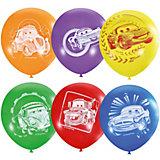 """Воздушные шары Latex Occidental """"Дисней. Тачки"""" 50 шт., пастель + декоратор"""