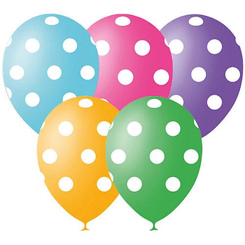 """Воздушные шары """"Горошек"""" 12""""/30 см 25 шт, серия Декоратор от Latex Occidental"""