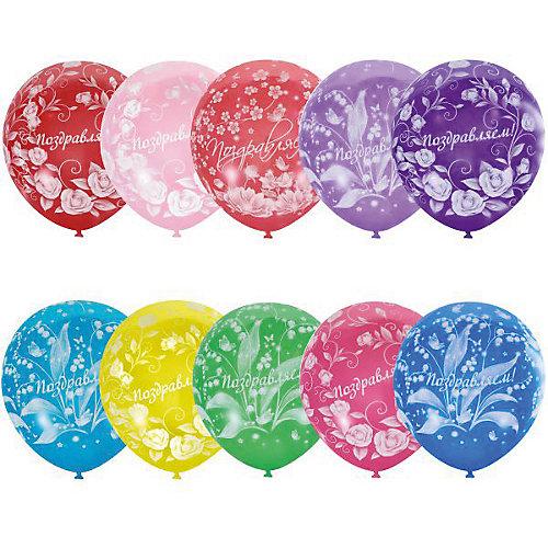 """Воздушные шары Latex Occidental """"Праздничная тематика. Цветы"""" 25 шт., пастель + декоратор от Latex Occidental"""