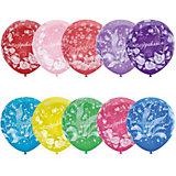 """Воздушные шары Latex Occidental """"Праздничная тематика. Цветы"""" 25 шт., пастель + декоратор"""