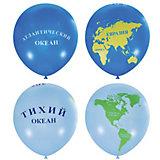 """Воздушные шары Latex Occidental """"Глобус"""" 25 шт., пастель (шёлк)"""