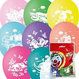 """Воздушные шары Latex Occidental """"Детская тематика"""" 10 шт., пастель + декоратор (шёлк)"""
