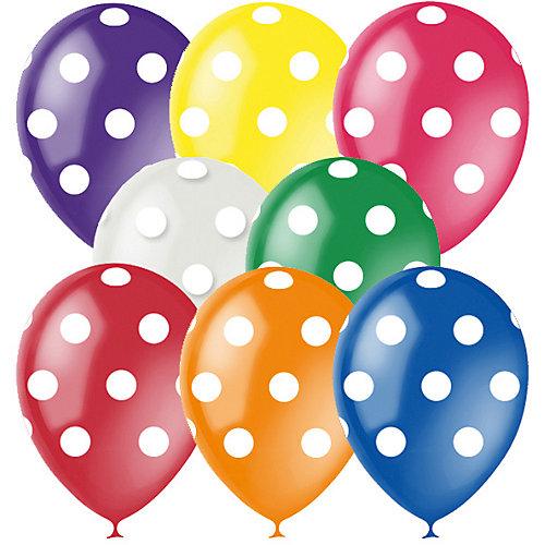 """Воздушные шары """"Горошек"""" 8 цветов 25 шт, 12""""/30см, серия Декоратор от Latex Occidental"""