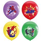 """Воздушные шары Latex Occidental """"Марвел. Человек-паук"""" 25 шт., пастель + декоратор (шёлк)"""
