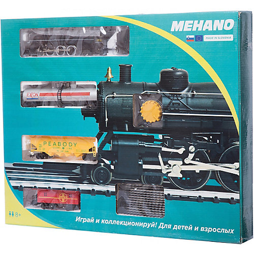 "Стартовый набор Mehano ""Паровоз Hudson"", с 3 вагонами от Mehano"