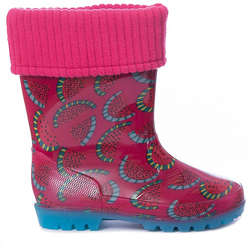 Резиновые сапоги со съемным носком Kapika - розовый от Kapika