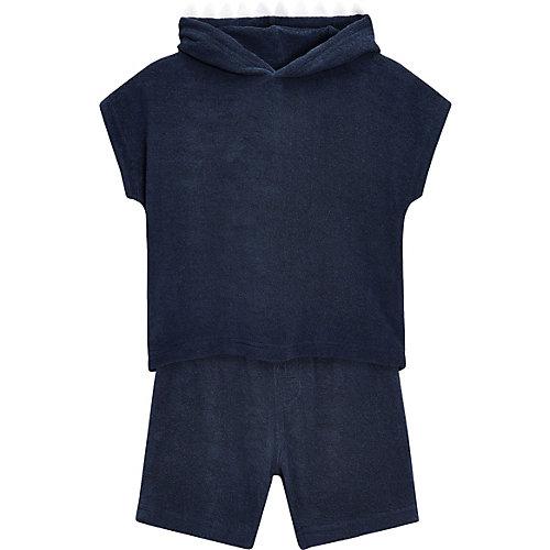 Next Set T-Shirt mit Haifisch-Kapuze und Shorts aus Frottee Gr. 80/86 Jungen Kleinkinder | 05057639995653