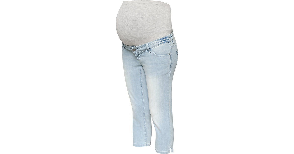 MLJOSIE LIGHT BLUE SLIM CAPRI JEANS - Umstandsjeans - weiblich light blue denim Gr. W27/L32 Damen Kinder