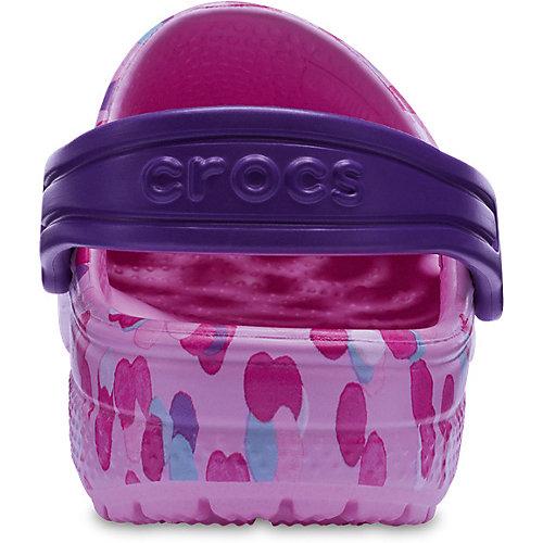 Сабо CROCS Classic Graphic Clog K - розовый от crocs