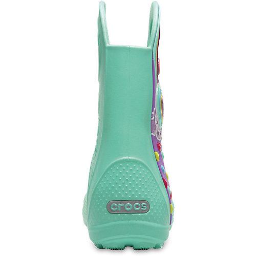 Резиновые сапоги CROCS Handle It Graphic Boot K - голубой от crocs