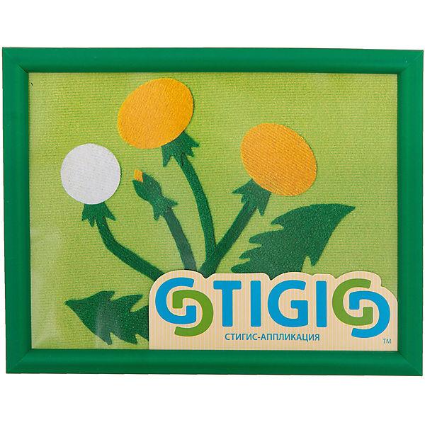 "Набор STIGIS ""Аппликация Одуванчик"" с рамкой,  20х15"