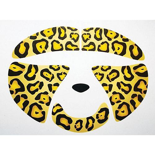 Украшение-стикер для лица «Леопард» 1 шт, Partymania - желтый от Partymania